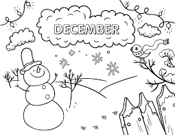 Small Picture Free December Coloring Page