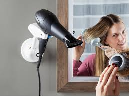 wall mounted hair dryer holder by