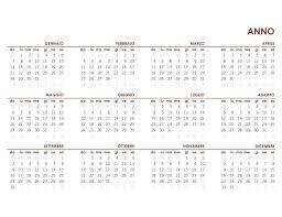 Calendario Globale Anno Completo