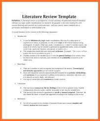 A Good Literature Review Example Research Template Proposal