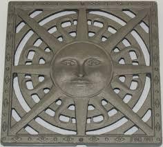 Decorative Metal Grates 12 Catch Basin Kit W Cast Iron Decorative Sun Drain Grate