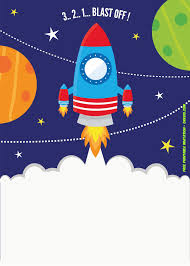 Space Party Invitation Free Printable Spaceship Rocket Ship Invitation Template