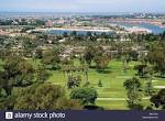 This scenic vista shows the Newport Beach Country Club golf links ...