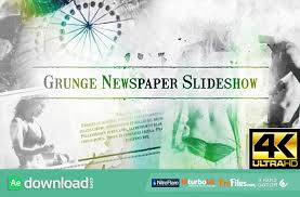 Newspaper Template After Effects Free Videohive Grunge Newspaper Slideshow Free Download Free After