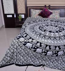 ethnic indian elephant mandala print bedding duvet quilt cover queen duvet set handmade traditional