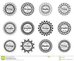 Stamp Design Collection Award Stamp For Design Adn Graphic Studios Stock