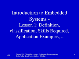 Embedded Systems Architecture Programming And Design Rajkamal Ppt Ppt Definitions Powerpoint Presentation Free Download