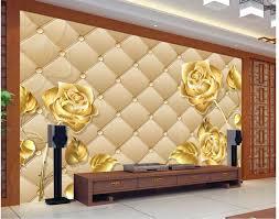 3d murals wallpaper for living room golden rose photo wall murals wallpaper 3d wall murals home