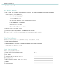 Move Checklist Template 45 Great Moving Checklists Checklist For Moving In Out