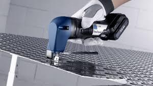 sheet metal power tools. shear cutting sheet metal power tools e