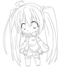 Small Picture Cat Anime Girl Coloring Pages To Print Cartoon Coloring pages of