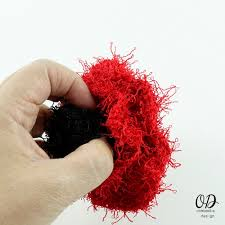 Red Heart Scrubby Pattern Mesmerizing Poppy Scrubby For Dishes Free Pattern Oombawka Design Crochet