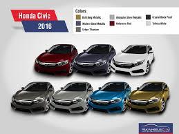 2016 Honda Civic Revealed In All 7 Colors Pakwheels Blog