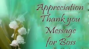 Thank You Message To Boss Appreciation Thank You Message For Boss
