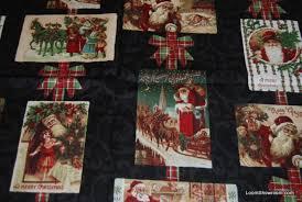 Christmas Victorian Christmas Santa Claus Postcards Merry ... & Christmas Victorian Christmas Santa Claus Postcards Merry Christmas Retro  Cotton fabric Quilt fabric T29 Adamdwight.com