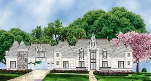 castle house plans. Abby Glen Castle House Plan - Front Rendering Archival Designs Plans