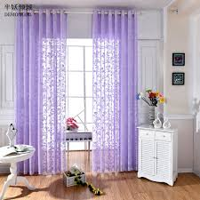 Purple Living Room Curtains Online Get Cheap Purple Sheer Curtains Aliexpresscom Alibaba Group