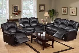3pc reclining sofa set sofa loveseat reliner leather or plush microfiber