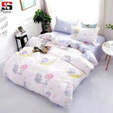 elephant print bedding cute cartoon bedding set elephant print duvet cover sets soft bedclothes twin full elephant print bedding
