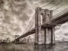 architectural drawings of bridges. Brooklyn Bridge \u2013 Pencil Drawing Architectural Drawings Of Bridges L