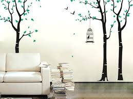 bird cage wall decal pop decors tree blowing in the wind wall decal reviews  three birch