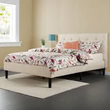 Full Upholstered Bed Frame Zinus Taupe Full Upholstered Bed Hd Ftpb F The Home Depot