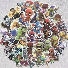 <b>100Pcs</b>/<b>Lot</b> Cartoon Cute Super <b>Hero</b> Stickers <b>MARVEL</b> Graffiti ...