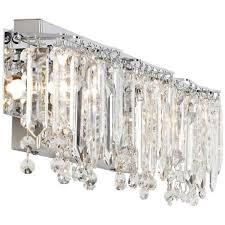 Chrome Bathroom Lighting Fixtures Best Possini Euro Crystal Strand 488 48848 Wide Chrome Bath Light In 48