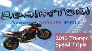 Triumph Speed Triple Engine Management Light Dealertool Service Light Reset Triumph Speed Triple 2016 Dealer Tool