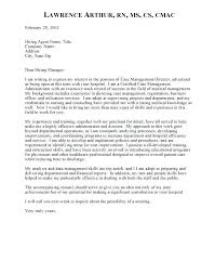 It Manager Cover Letter Example Nurse Case Manager Cover Letter Case