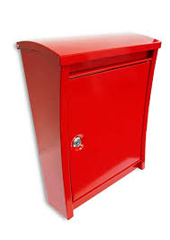 mailbox with key. Delighful Key NACH TX77RD Dorsa Steel Mailbox With Key  Wall Mounted Post Box Large In With E