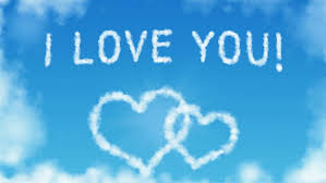 hd wallpaper love i love you clouds