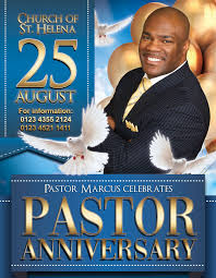 Pastor Anniversary Free Flyer Psd Template