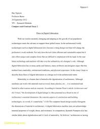 Compare And Contrast Essay Sample College English Literature Essays How To Start A Biography Essay