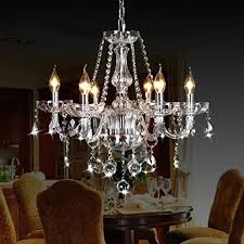 candle pendant lighting. CRYSTOP Classic Vintage Crystal Candle Chandeliers Lighting 6 Lights Pendant Ceiling Fixture Lamp For Elegant Decoration