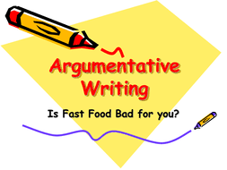 argumentative writing fast food essays by marrocky teaching   fast food reading into writing ppt