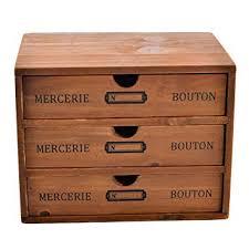 wooden desk drawer organizer. Plain Organizer Mini Desk Organizer Yamix Household Essentials 3Drawer Wooden Storage  Chest Box Office Desktop In Drawer Organizer A