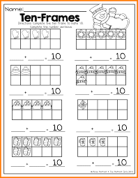 ten frame worksheets for kindergarten to learning math worksheet