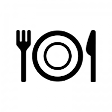 お皿付きの食事マークのシルエット03 無料のaipng白黒シルエットイラスト