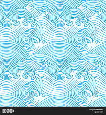 Japanese Wave Pattern Best Japanese Seamless Vector Photo Free Trial Bigstock