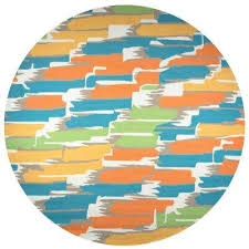 azzura hill multicolor abstract 8 ft x 8 ft round outdoor area rug
