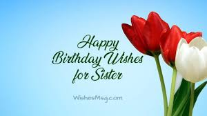 Birthday Wishes For Sister Happy Birthday Sister Messages
