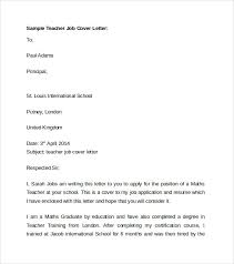 Teacher Position Cover Letter Resume And Cover Letter Resume And
