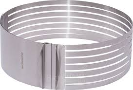 Раздвижная форма для <b>выпечки</b> Кольцо-трансформер 24-30 см ...