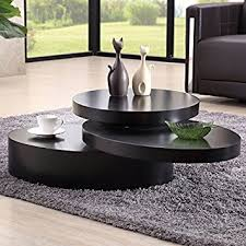 round table living room. uenjoy rotating coffee table living room furniture (round, black) round a