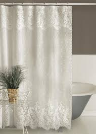 check out the deal on floret lace shower curtain by heritage lace at bedbathhome com