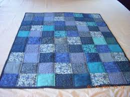 436 best Baby Quilts or Donation Quilts - Ideas images on ... & Handmade Baby Toddler Quilt Blues Cotton Fabric Adamdwight.com