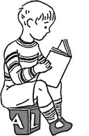 Small Picture Boy Reading Coloring Page for Kids Free Printable Picture