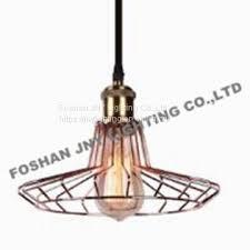 foshan jny lighting vintage lamp shade retro industrial diy black metal bird cage light shade for