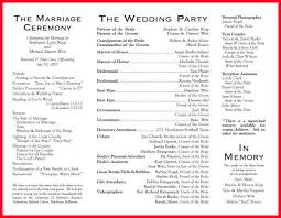 sample wedding program wording wedding programs wording notary letter